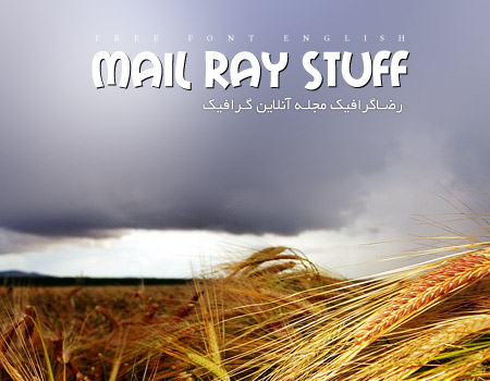 فونت انگلیسی Mail Ray Stuff | رضاگرافیک